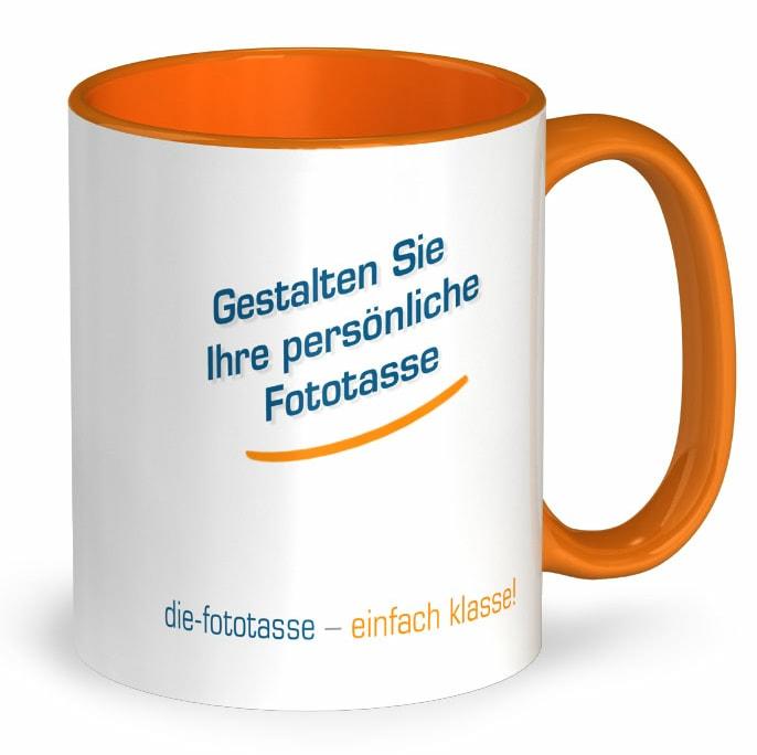 Fototasse orange