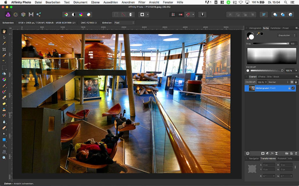 Affinity Photo Screenshot MAC
