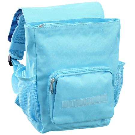 Kinderrucksack hellblau geöffnet