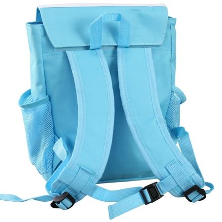 Kinderrucksack hellblau Ansicht hinten