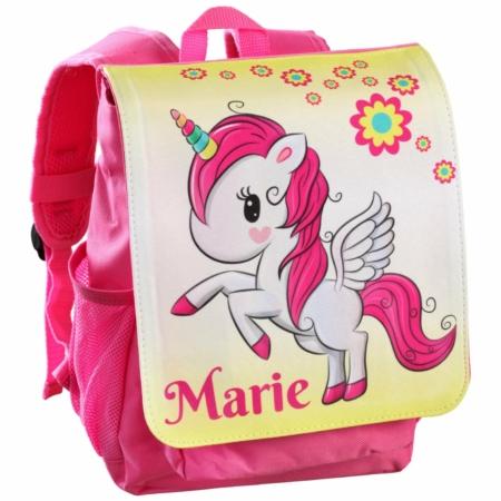 Kinderrucksack mit Namen und Foto pink